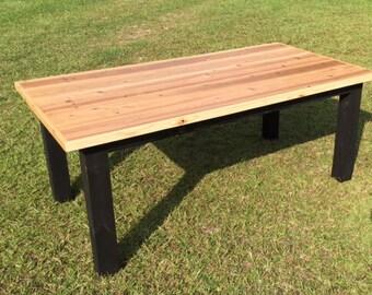 Elegant Cedar Top Farmhouse Table