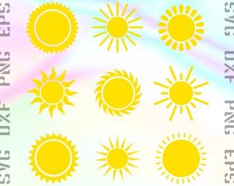 Sun SVG File - Sun Cricut SVG - Sun DXF - Sun Silhouette - Sun Cameo - Sun Cut File - Sun Png - Sun Clipart - Sun Eps - Sun Cutting File