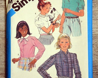 Simplicity 6555 - blouses sewing pattern clutch