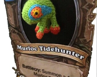 Murloc, Hearthstone, murloc plush, video games, geek gift, amigurumi crochet, blizzard, gamer