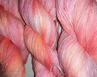 Belladonna- 100 Organic Cotton, Hand Dyed, Bulky Weight Variegated Yarn