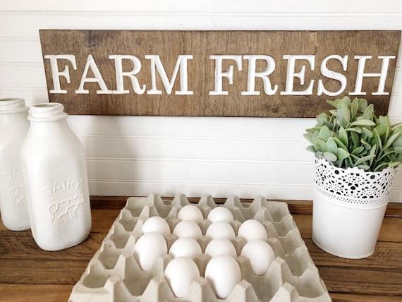 Farm Fresh Wood Engraved Sign