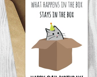 21st Birthday Printable Cards, Funny 21st Birthday Cards, Funny Cat Birthday Card, Printable Cat Cards, Instant Download, 21 Birthday