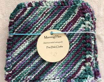 Purple Knit Dishcloth