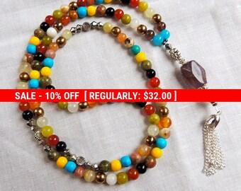 Prayer beads Chakra Mala Necklace/ 108 bead Mala Necklace / Bracelet - Wrist mala / Yoga jewelry - Buddhist Jewelry - Free Shipping  in USA