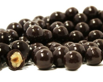 Gourmet Dark Chocolate Covered Hazelnuts by Its Delish
