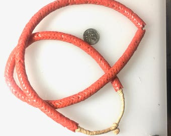 Coral Red Snake Beads 27 inch strand 10mm #2