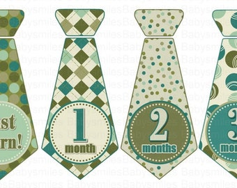 FREE GIFT Baby Tie Monthly Photo Stickers Tie Stickers Baby Boy Month Sticker Monthly Baby Stickers Monthly Milestone Sticker Month to Month