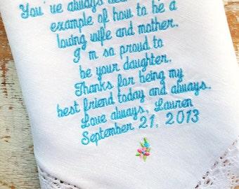mother wedding handkerchief