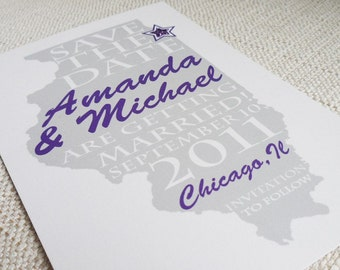 Wedding Save the Date or Invitation with Your State