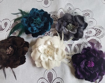 Velvet or Silk Hairclips/Pins