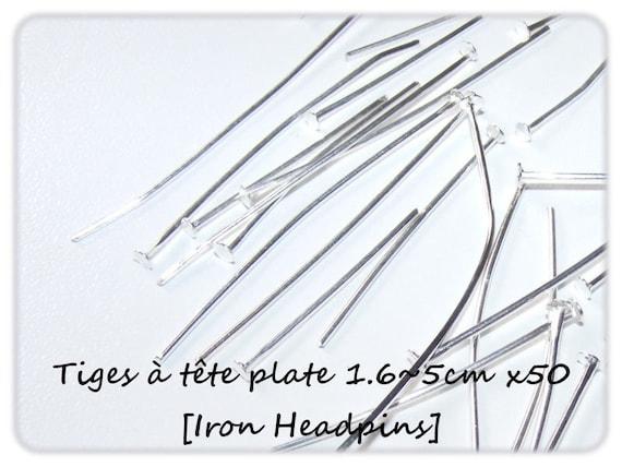 Head pins set flat 1.6 ~ 5 cm x 50 [Iron Headpins.