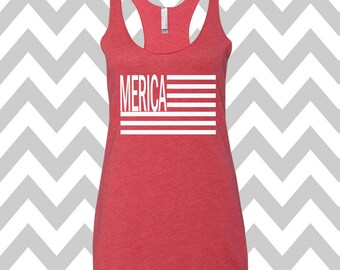 American Flag Tank Top Fourth Of July Country Music Shirt 4th of July Merica Tank Top Fourth Of July Shirt