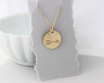 follow your arrow necklace, arrow jewelry, inspirational gift for her, travel gift, graduation gift, simple gold necklace
