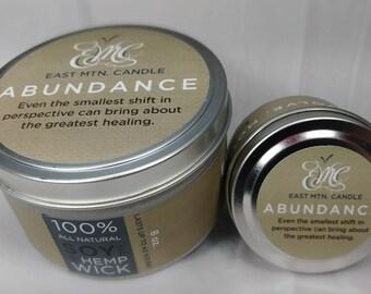 Abundance - Cinnamon - Clove - Nutmeg - Lemon - Soy Candle- all natural - hemp wick - spiritual - gift - inspiration - Law - Of - Attraction