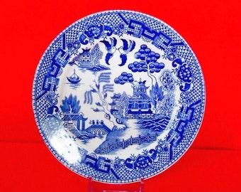 4 MORIYAMA BLUE WILLOW China Salad/Dessert Plates Made in Japan Vintage China Dinnerware  sc 1 st  Etsy & Moriyama blue willow | Etsy
