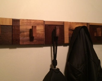 Intriguing Wall Mounted Coat Rack - Made to order