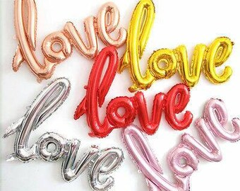 Colored giant LOVE balloon  decorative foil wedding party decor celebration wedding anniversary helium balloon