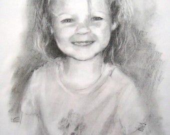 Custom portrait, family portrait, portrait painting, custom painting, portrait drawing, child  portrait, graphite drawing, Mothers day gift