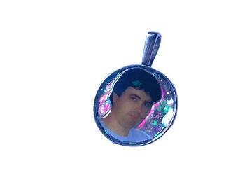 DANIEL JOHNSTON glitter necklace
