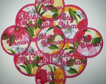 Nasty Woman Patch - FLORAL