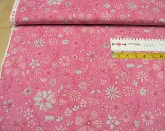 Clothworks • Wild Wonder • raspberry medium toss • Cotton Fabric 0.54yd (0.5m)