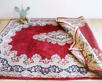 Great knotted Persian carpet, Kirman/K. Oriental Vintage rug from Iran.