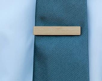 Wood Tie Clip - Maple