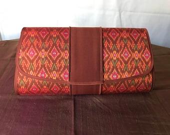 Handmade silk clutch 002