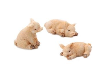 Dollhouse Miniature, Fairy Garden, Little Pigs, Barnyard