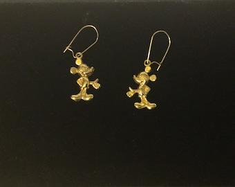 Vintage 14K Gold Filled Disney Mickey Mouse Earrings