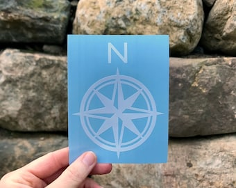 Compass Decal / Adventure Decal / Hiking Decal / Camping Decal / Wanderlust Decal / Adventure Sticker / Explore Sticker / Compass Sticker