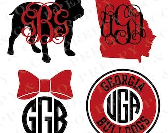 UGA Vinyl Decal - Monogram UGA Sticker - University of Georgia