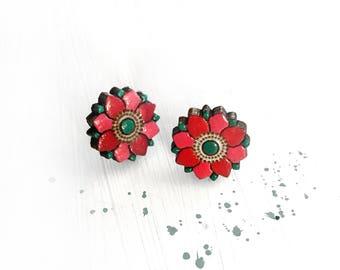 SUSSAN stud earrings -flower shaped - Lotus - Persian
