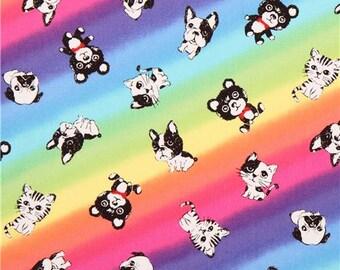 203003 multicolor animal oxford fabric by Kokka