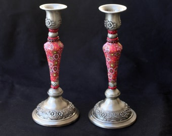 Table Decoration, Candlestick, Candle Holders, Candle Holder Set, Jewish Gift, Shabbat Candlesticks, Judaica, Jewish Housewarming Gift