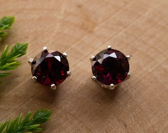 Red Anthill Garnet Sterling Silver Earrings