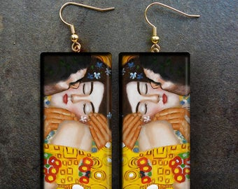 Art polymer clay earrings
