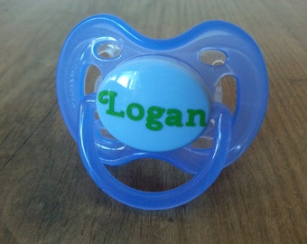 Pacifier decal etsy free shipping personalized name pacifier decal personalized pacifier decal baby shower gift negle Gallery