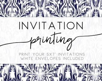 PROFESSIONAL PRINTING for any Frankie Bear Designs invitation or any 5x7 co-ordinates, free white envelopes, 5x7 card printing