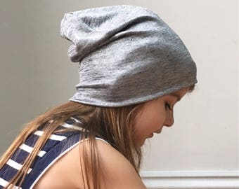 Metallic silver Grey beanie hat / baby toddler kids beanie hat / knit hat / toddler beanie / kids beanie / hipster baby / kids hat
