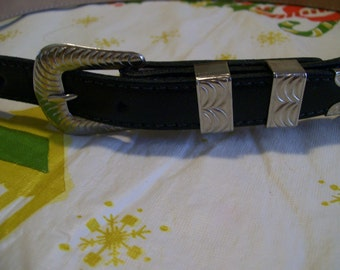 The Belt Company of Texas Black Leather Belt