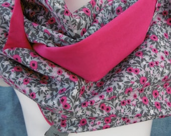 Lined in cotton reversible Snood
