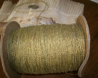 10 yds. of antique gold tiny cord french 1920s great patina