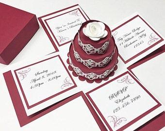 Exploding Box Invitation Exploding Boxes Exploding Box Wedding Invitation Exploding Box Card
