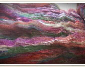 Impressionist Art Batt for Spinning Corespinning Hand Spinning Felting Fiber Art Batt