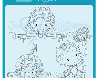 Charlote Ballerina Set • 300 PPI Digital Stamp • Digistamp • Instant Download