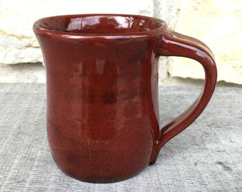 Handcrafted Red Pottery Mug