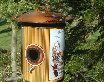 Metal Can Assemblage Birdhouse