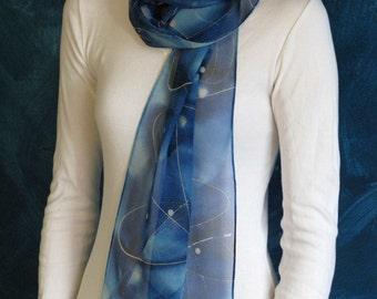 Cosmic Exploration Silk Chiffon Scarf